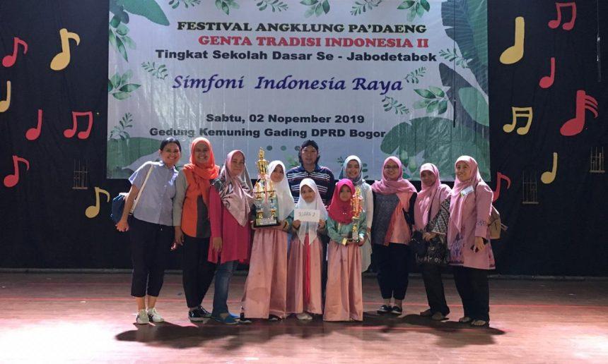 SD Islam Al Ikhlas Menjadi Juara 2 Pada Festival Angklung Pa'daeng Genta Tradisi Indonesia II