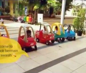 Bermain Lomba Balap Mobil-mobilan Anak KB TK Islam Al Ikhlas Cipete on youtube