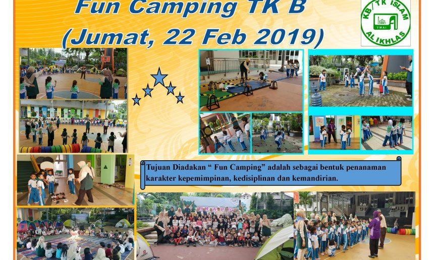 FUN CAMPING DI KB/TK ISLAM AL-IKHLAS, CIPETE